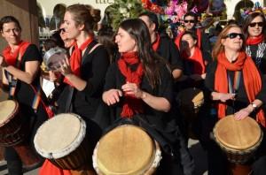 Drummers in Thessaloniki