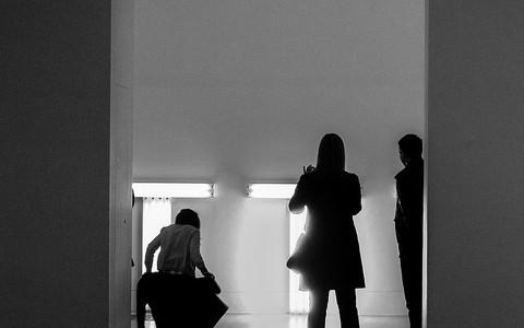 People in galleries