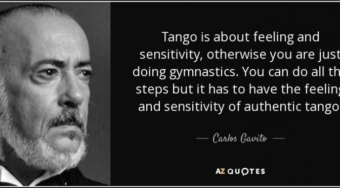 Tango Workshops are gym sessions but we should be dancing